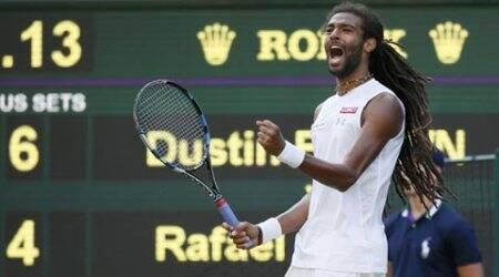 Wimbledon 2015, Wimbledon, Dustin Brown, Rafael Nadal, Brown Nadal, Andy Murray, Murray, Andy Murray Tennis, Andy Murray Wimbledon, Robin Haas, Sports News, Sports.