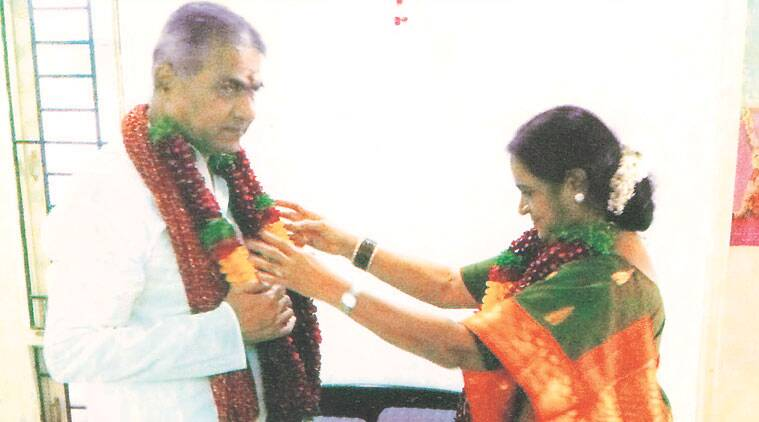 M Rajeswari and Damodar Rao had a simple garland exchange ceremony before they moved in