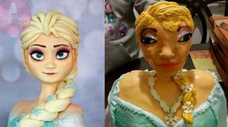 'Elsa' cake goes horribly wrong for one birthday party, photo goes viral