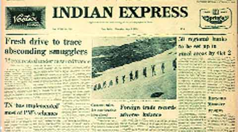 Indian express, Express front page, Indian express front page, Indira gandhi