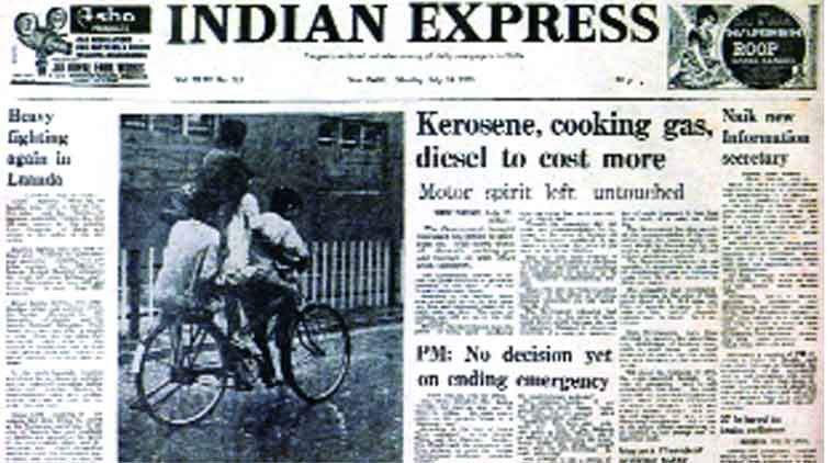 Indian Express, Indian Express paper, Indian Express front page