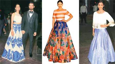 talk, delhi talk, fashion, maxi fashion, maxi skirt fashion, gown fashion, fashion deisgner, Yogesh Chaudhary, Indian Fashion, Mira Rajput, Shahid-Mira, Indian Express