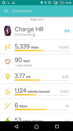 how to put fitbit hr to sleep mode