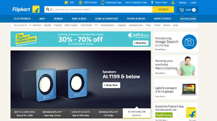 Flipkart, Flipkart app-only, Flipkart app-only, Flipkart desktop site, Flipkart offers, Flipkart and Myntra, Flipkart app Android, Flipkart app iOS, Android app for Flipkart, Myntra app, Myntra app only, technology, technology news, mobiles, smartphones, e-commerce in india