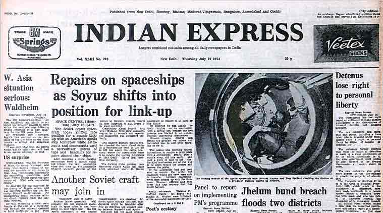 Misa Amended, spacecraft, Soviet spacecraft, Indira Gandhi, Soyuz-Apollo link-up, ieeditorial, indian express
