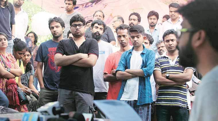 FTII protest, FTII row, FTII director, Prashant Pathrabe, FTII Prashant Pathrabe, mumbai news, city news, local news, maharashtra news, Indian Express