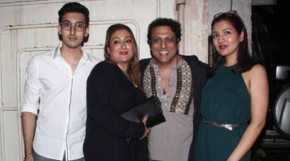 Govinda, wife Sunita watch daughter Tina's 'Second Hand Husband' with son Yashwardhan