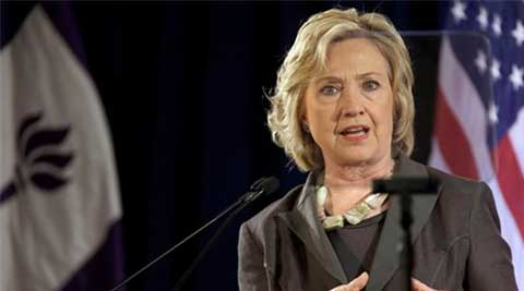 Hillary Clinton sets target to tackle climate change