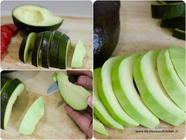 how to cut avocado slices