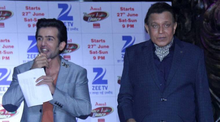 """TV host Jay Bhanushali says he and """"Dance India Dance"""" grandmaster Mithun Chakraborty pull each other's leg like classic animated characters Tom and Jerry. (Source: Varinder Chawla)"""