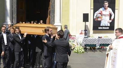 Bianchi funeral: Family, friends, F1 drivers pay tributes