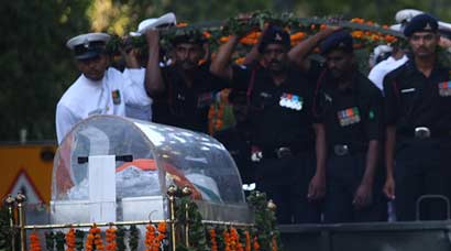 Former president Kalam's mortal remains flown to Rameshwaram from New Delhi