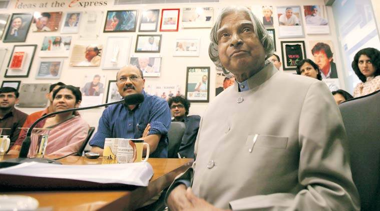 abdul kalam, abdul kalam dies, shekhar gupta, indian express, kalam indian express