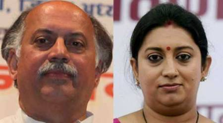 gurudas kamat, Smriti Irani, Rajasthan civil body polls, Rajasthan Congress, Rajasthan BJP, HRD Minister Smriti Irani, Rajasthan politics, Rajasthan news, Jaipur news, India news, top stories, indian express