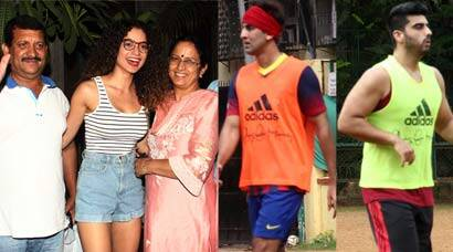 Kangana Ranaut spends time with parents; football time for Ranbir and Arjun Kapoor