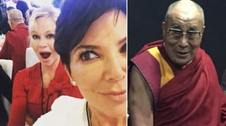 Kris Jenner, Melanie Griffith take selfie with DalaiLama