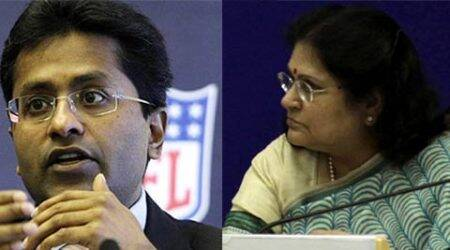 Lalit Modi, Lalit Modi Row, IPL chief, Omita Paul, President Secretary Omita Paul, Rashtrapati Bhavan, derogatory tweet, B S Bassi ,Delhi Police, tweet, india news, nation news, national news, Indian Express