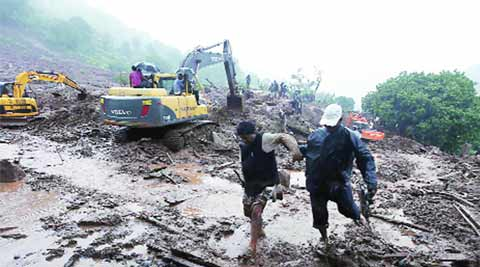 malin tragedy, landslide, CM relief fund, pune new, city news, local news, maharashtra news, Indian Express