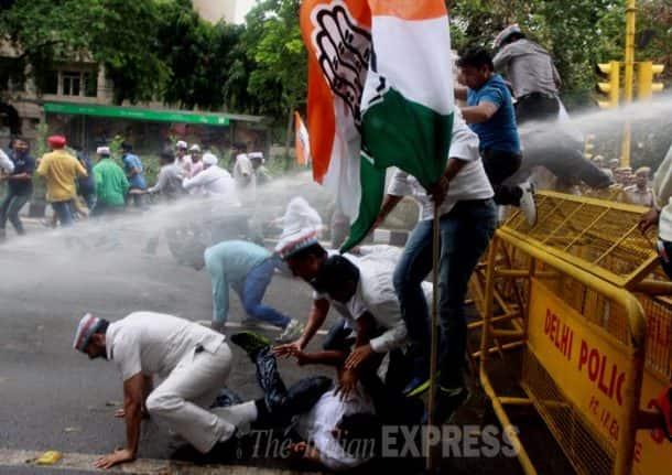 Narendra Modi, Arvind Kejriwal, Syama Prasad Mookerjee, Rajnath Singh, Arun Jaitley, L K Advani, Sumitra Mahajan, Satish Upadhyay, Vijay Goel, Ramesh Bidhuri, Ram Madhav, Ajay Maken, Congress protest against Kejriwal, Delhi Rains, heavy rains in delhi, Syama Prasad Mookerjee Birth Anniversary, AAP, Delhi News