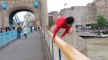Shah Faisal Shinwari YouTube, Shah Faisal Shinwari jumps off bridge, london bridge, thames, jump into thames, trending, viral, london bridge thames, london bridge jumper, jumper, carnage, Shah Faisal Shinwari, youtube, #trending, #viral