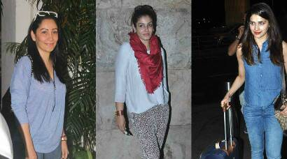 Movie time for Maanyata Dutt, Raveena Tandon; Prachi Desai flies off