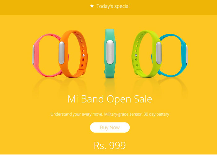 Mi Band, Mi Band Open sale, Xiaomi first year anniversary, Mi India anniversary, Mi India, Mi Band specs, Mi Band features, Mi Band specifications, Mi Band price, fitness tracker, Mi Band sale, tech news, gadget news, technology