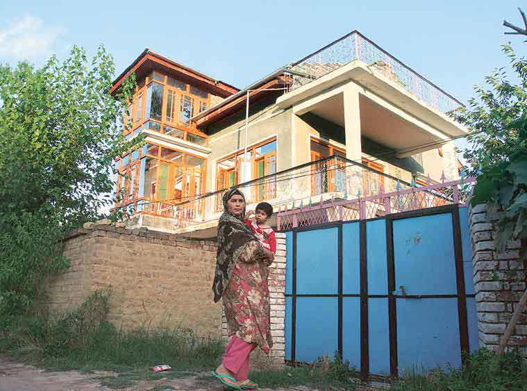 Most young militants belong to wealthy, educated families who own big homes, such as this one in Noorpura village, Tral, from where Zakir Rashid Bhat is missing