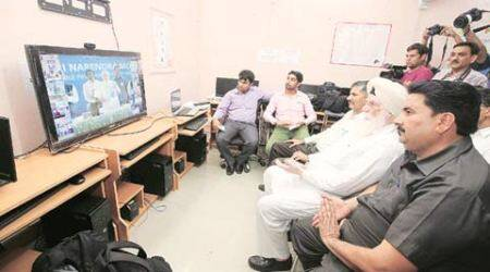 Chandigarh: Glitch trips video date with Narendra Modi