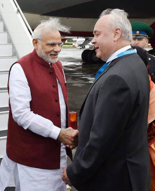 BRICS, BRICS 2015, BRICS Summit, BRICS Summit 2015, Narendra Modi, Yalalov Erece, Nursultan Nazarbayev, Karim Massimov, Narendra Modi in Russia, Narendra Modi BRICS Summit, Narendra Modi BRICS 2015, Narendra Modi BRICS Summit 2015, Narendra Modi Arrives in Russia, Narendra Modi Reaches Russia, Narendra Modi in Ufa, Narendra Modi in Kazakhstan, Russia