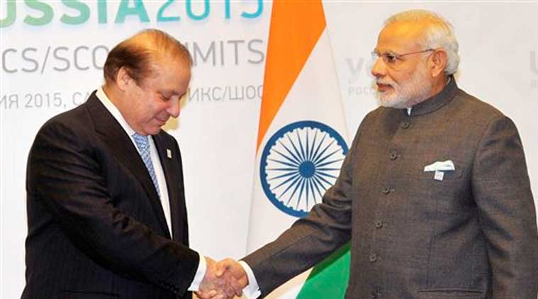 Narendra modi, nawaz sharif, Narendra Modi, Nawaz Sharif, Narendra Modi russia visit, Modi russia visit, india SCO inclusion, india SCO, modi sharif meeting, modi sharif ufa meeting, sharif modi ufa talk, india pakistan ties, pakistan india relation