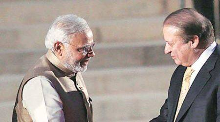 Narendra Modi, Nawaz Sharif, modi meet sharif, narendra modi nawaz sharif, Ufa, Modi Sharif meet, Sharif Modi meet, modi sharif meeting, sharif modi meeting, modi pakistan, modi news, pakistan news, india news, russia news, world news, indian express