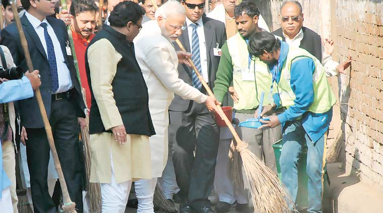 Narendra Modi, Narendra Modi varanasi, varanasi modi visit, bjp minister varanasi visit, Manoj Sinha, modi varanasi project, pm modi varanasi project, MoS Manoj Sinha, Narendra Modi constituency varanasi, modi constituency varanasi, Lucknow news, india news, nation news