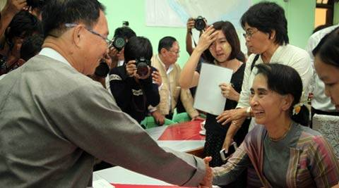 Myanmar democratic leader Suu Kyi registers for November elections