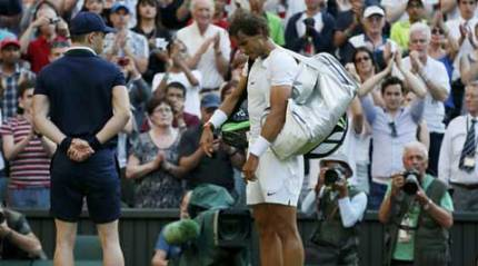 After Wimbledon exit, Nadal sad but vows to carry on
