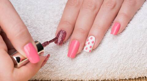 Use nail art brushes or paint brushes as an alternate to give effects and paint out your creativity. (Source: Thinkstock Images)