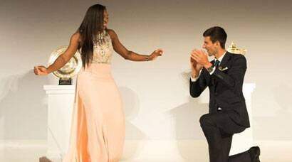 Wimbledon 2015: After lifting titles, Novak Djokovic, Serena Williams shake a leg