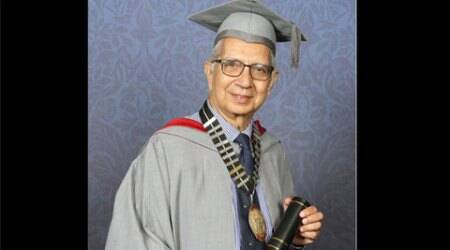 University of Central Lancashire, UCLan, Shiv Pande, UK fellowship, UK honorary fellowship, Shiv Pande UClan, British Universities, indian doctor, indian express news