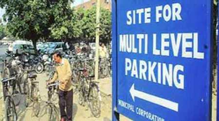 BJP, Congress, parking projects, BJP civic bodies, multi-level parking projects, Delhi news