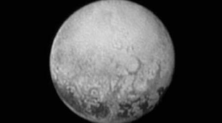his July 11, 2015, image provided by NASA shows Pluto from the New Horizons spacecraft.