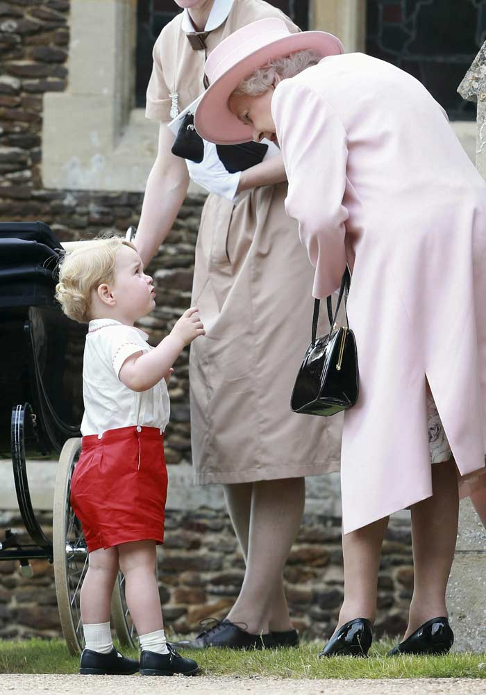 Princess Charlotte, Princess Charlotte Christening, Queen Elizabeth II, Prince Philip, Camilla the Duchess of Cornwall, Kate the Duchess of Cambridge, Prince George, Prince William, Prince Charles, Christening of Britain's Princess Charlotte, St Mary Magdalene Church, Godmother Laura Fellowes
