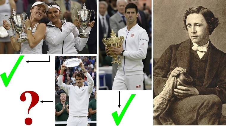 How Lewis Carroll might have rated the victories of Sania-Martina, Djokovic and Federer. (Source: Reuters & AP photographs)