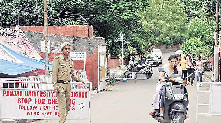 security women security, college security, PU security, PU campus, chandigarh news, Indian Express