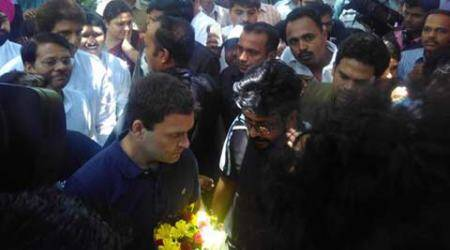Row over Chauhan: At FTII, Rahul backs protesting students, says Centre, RSS promoting mediocrity