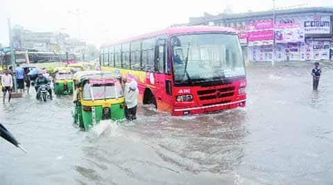 ahmedabad heavy rain, heavy rain, NDRF, SRP, BSF, IMD, heavy rain, gujarat heavy rain, ahmedabad news, gujarat news, indian express