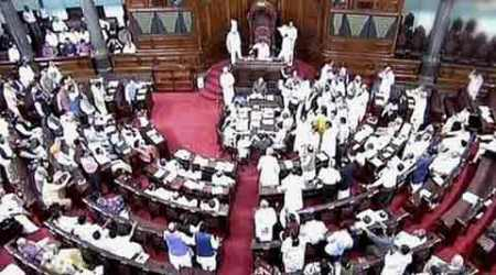 Rajya Sabha, RS adjourned, Congress protest, MLAs suspended, Congress MLAs suspended, RS Congress protest, Lok Sabha, Anti-corruption Act, Congress anti-corruption act, Nation news, india news