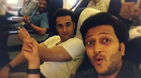 Riteish Deshmukh, Pulkit Samrat in Delhi to promote 'Bangistan'