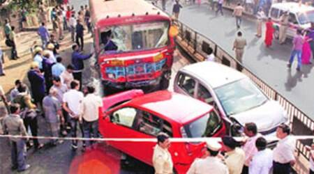 Road rage, delhi road rage, bus driver beaten, bus driver, delhi police, delhi news, city news, local news, Indian Express