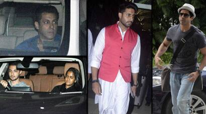 Salman, sister Arpita watch Bajrangi Bhaijaan; Abhishek, Farhan atairport