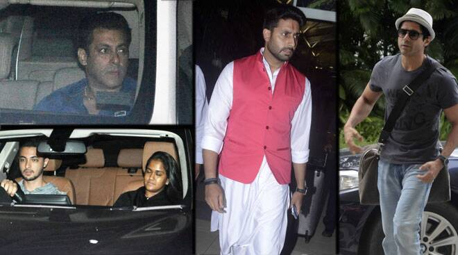 Salman, Arpita watch Bajrangi Bhaijaan; Farhan at airport