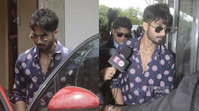 Groom-to-be Shahid Kapoor sets off for his wedding in Gurgaon